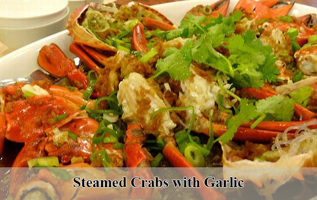 Steamed Crabs with Garlic