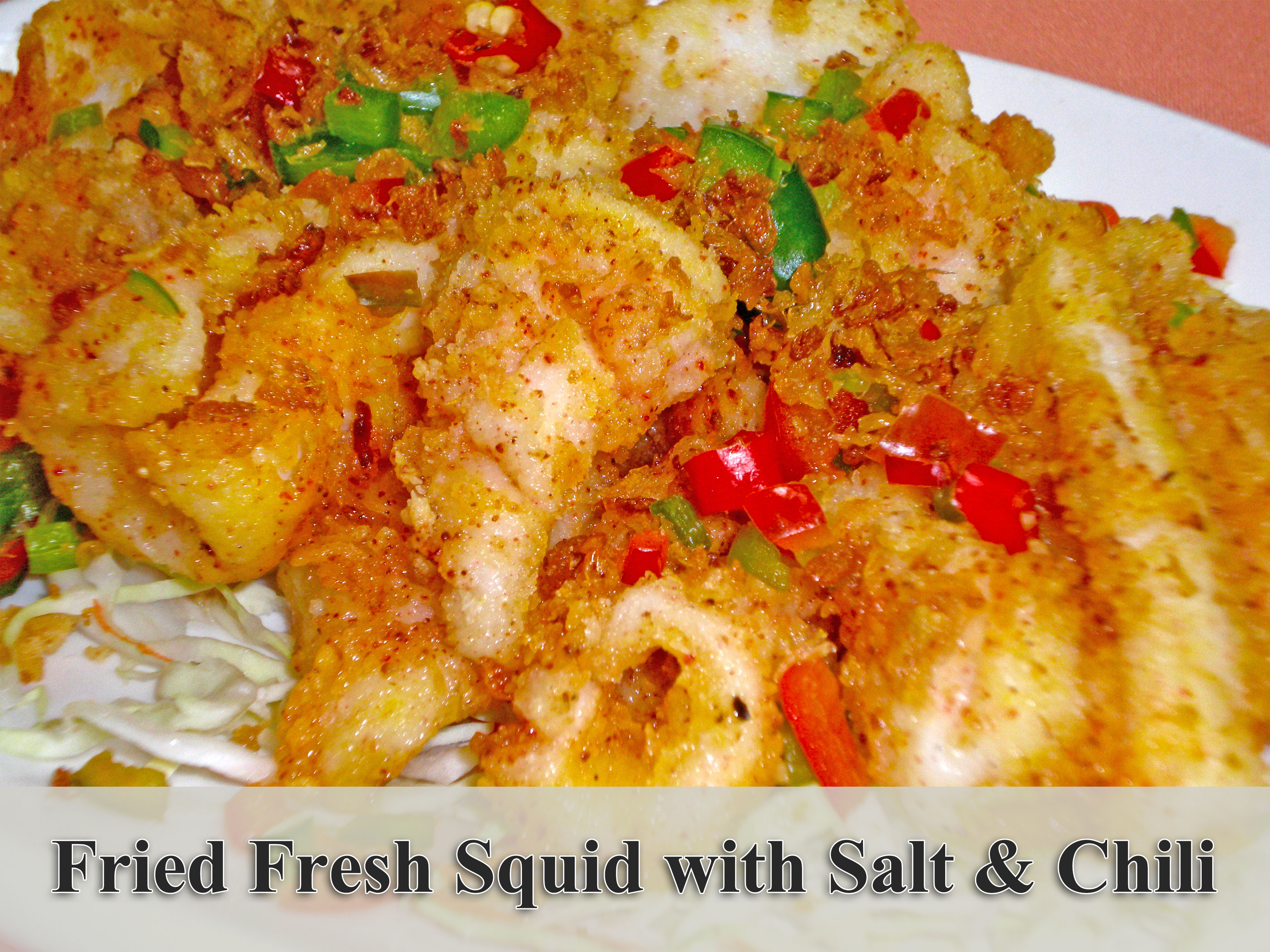 Fried Fresh Squid with Salt & Chili