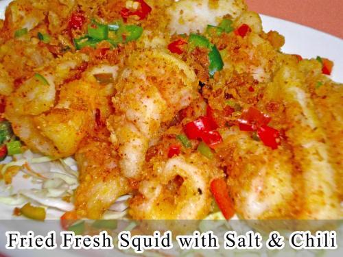Fried Fresh Squid with Salt & Chili