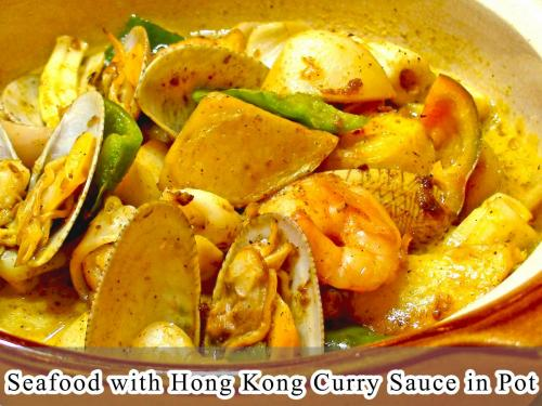 Seafood with Hong Kong Curry Sauce in Pot